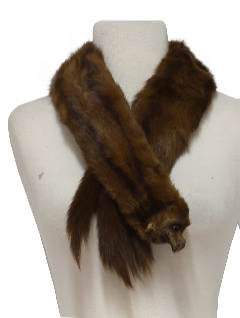 1950's Womens Accessories - Mink Fur Stole