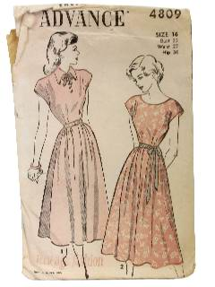 1950's Womens Sewing Pattern