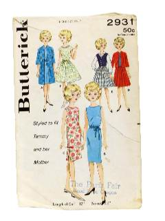 1960's Doll Sewing Pattern