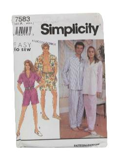 1990's Unisex Sewing Pattern