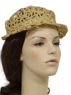 1940's Womens Accessories - Sun Hat