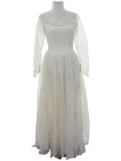 1960's Womens Wedding Maxi Dress