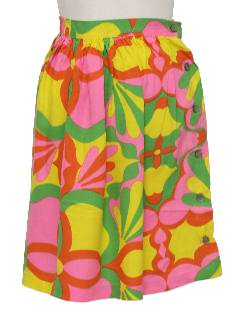 1960's Womens Mod Pow-Flower Hippie Skirt