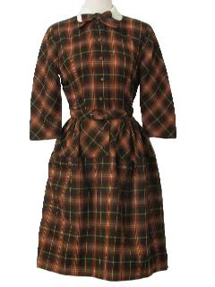 1940's Womens Fabulous Forties Wool Dress
