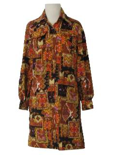 1970's Womens Late Mod Early Psychedelic Dress