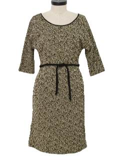 1960's Womens Designer Wool Blend Wiggle Dress
