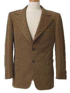 1970's Mens Mod Disco Blazer Style Sport Coat Jacket