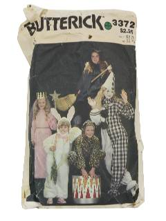 1980's Unisex/Childs Costume Pattern