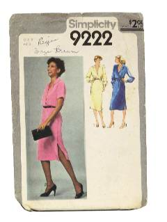1970's Womens Totally 80s Style Pattern