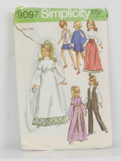 1970's Doll Wedding Pattern