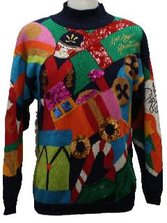 1980's Unisex Stupdenously Ugly Christmas Sweater