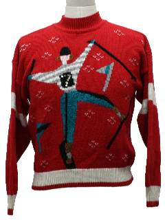 1980's Unisex Totally 80s Look Freakin Awesome Ugly Christmas Sweater