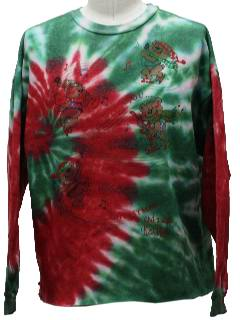 1980's Unisex Totally 80s Tie Dyed Bear-Riffic Ugly Christmas Sweatshirt