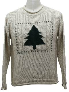 1980's Unisex Understated Minimalist Ugly Christmas Sweater