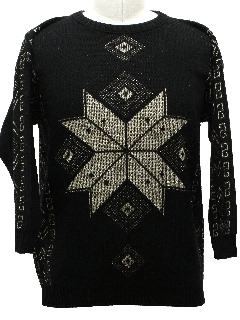 1980's Unisex Totally 80s Ugly Christmas Snowflake Sweater