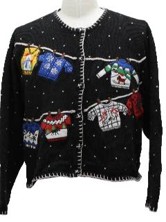 1980's Womens Ugly Christmas Sweater Ugly Christmas Sweater