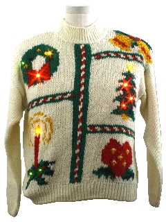 1980's Womens Lightup Ugly Christmas Sweater