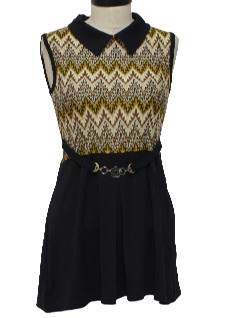 1980's Womens Knit Mod Dress