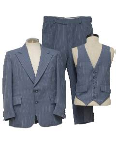1980's Mens Totally 80s Three Piece Suit