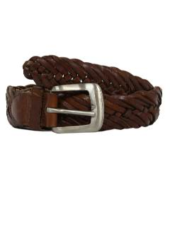 1980's Mens Accessories - Braided Leather Hippie Style Belt
