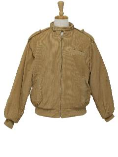 1980's Mens Totally 80s Members Only Style Corduroy Jacket