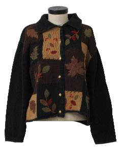 1990's Womens Cheesy Kitschy Ugly Fall Sweater
