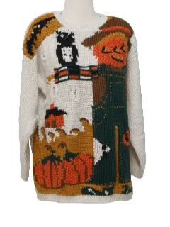 1990's Womens Kitschy Cheesy Ugly Halloween Sweater