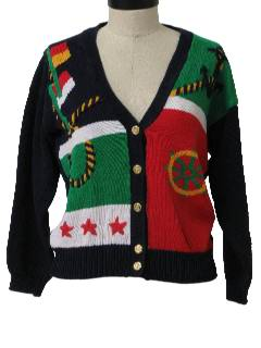 1990's Womens Kitschy Cheesy Ugly Sailing Sweater