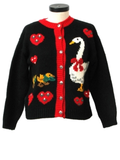 1990's Womens Kitschy Cheesy Goose Ugly Sort-of Christmas Sweater