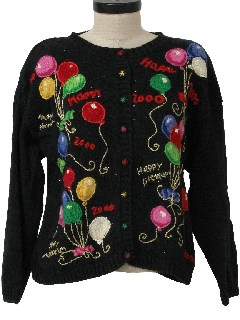 1990's Womens Y2k After Christmas Ugly New Yerars Sweater