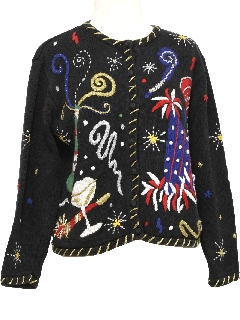 1990's Womens After Christmas Ugly New Years Eve Sweater