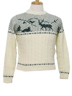 1980's Mens/Boys Totally 80s Ski Sweater