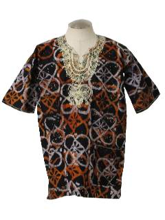 1970's Mens Dashiki Style Hippie Shirt