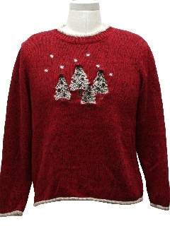 1980's Womens Not-Really-Even-Trying Ugly Christmas Sweater