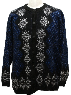1990's Unisex Ugly Christmas Snowflake Sweater