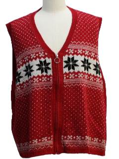 1980's Unisex Classic Ugly Christmas Sweater Vest