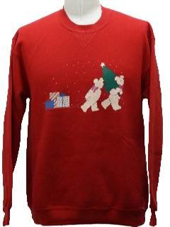 1980's Unisex Bear-rific Ugly Christmas Sweatshirt