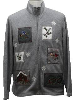 1980's Unisex Ugly Christmas Zip Front Sweatshirt