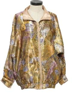 1990's Womens Golden Girls Style Wicked 90s Windbreaker Jacket