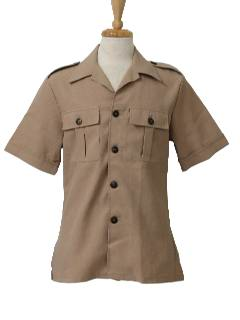 1970's Mens Safari Leisure Shirt-Jac