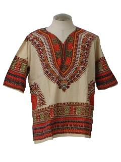 1970's Mens Hippie Style Dashiki Shirt