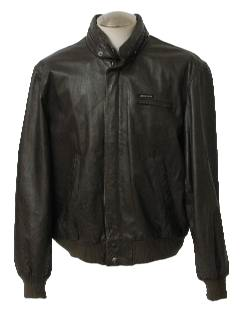 1990's Mens Wicked 90s Leather Jacket