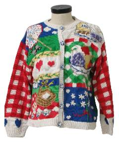 1990's Womens Kitschy Cheesy Ugly Sweater