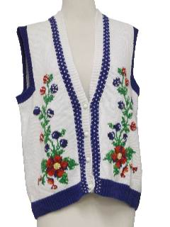 1990's Womens Kitschy Cheesy Sweater Vest