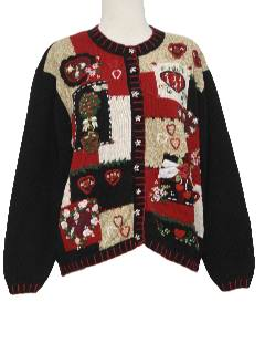 1990's Womens Valentines Day Kitschy Cheesy Ugly Sweater Vest