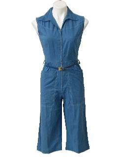 1960's Womens Mod Cotton Romper Jumpsuit