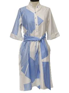 1970's Womens Mod Designer Dress