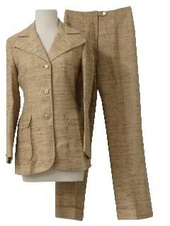 1960's Womens Mod Designer Suit