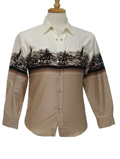 1980's Mens or Boys Western Shirt