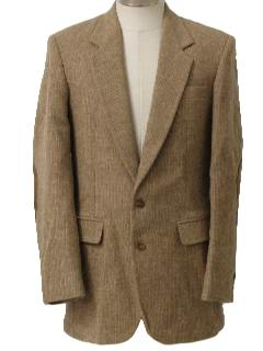 1970's Mens Wool Blazer Style Sport Coat Jacket